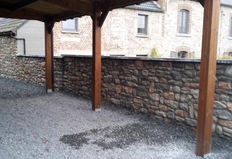Mur En Cailloux debry c. entreprise générale de batiment spécialisste du carrelage à